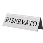 Targhetta RISERVATO per tavoli - Securit - set 5 pezzi