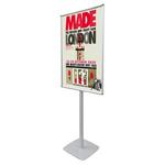 Porta poster monofacciale Info Pole Design - autoportante - cornice a scatto - 70x100 cm - Studio T