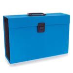 Archiviatore a soffietto Joy - 19 tasche - 22x30 cm - azzurro - Rexel