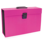 Archiviatore a soffietto Joy - 19 tasche - 22x30 cm - rosa - Rexel