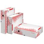 Scatola archivio Speedbox - dorso 10 cm - 35x25cm - bianco e rosso - Esselte