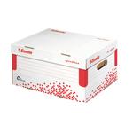 Scatola container Speedbox - Small - 25,2x35,5cm -  dorso 19,3 cm - bianco e rosso - Esselte