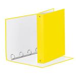 Raccoglitore Meeting - 4 anelli tondi 30 mm - dorso 4 cm - 22x30 cm - PPL - giallo vivida - Esselte