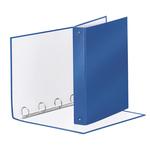Raccoglitore Meeting - 4 anelli tondi 30 mm - dorso 4 cm - 22x30 cm - PPL - blu metallizzato - Esselte