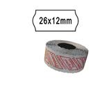 Rotolo da 1000 etichette a onda per Printex Smart 8/2612 - 26x12 mm - adesivo permanente - bianco - Printex - pack 10 rotoli