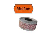 Rotolo da 1000 etichette a onda per Printex Smart 8/2612 - 26x12 mm - adesivo permanente - arancio - Printex - pack 10 rotoli