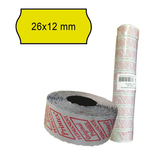Rotolo da 1000 etichette a onda per Printex Smart 8/2612 - 26x12 mm - adesivo permanente - giallo - Printex - pack 10 rotoli