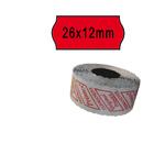 Rotolo da 1000 etichette a onda per Printex Smart 8/2612 - 26x12 mm - adesivo permanente - rosso - Pack 10 rotoli