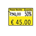 Rotolo da 600 etichette per Printex Z 17 - PREZZO VECCHIO&SCONTO& - 26x19 mm - adesivo permanente - giallo - Pack 10 rotoli