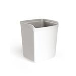 Bicchiere portapenne Mydesk - 8,7x7,4x10 cm - bianco - Arda