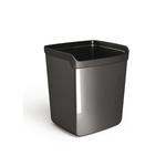 Bicchiere portapenne Mydesk - 8,7x7,4x10 cm - nero - Arda