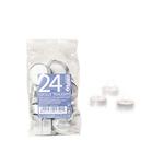 Candele Tealights - bianco - sacchetto da 24 pezzi