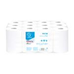 Asciugamani in rotolo Centrefeed - Mini - 2 veli - diametro 14,5 cm - 17 gr - 22 cm x 69 mt - bianco - Papernet
