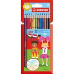 Pastelli colorati Stabilo Color - mina 2,5mm - Stabilo - Astuccio 12 colori