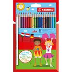 Pastelli colorati Stabilo Color - mina 2,5mm - Stabilo - Astuccio 18 colori