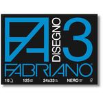 Album F3 - 24x33cm - 10 fogli - neri - 125gr - Fabriano