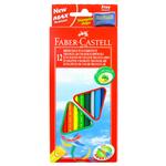 Astuccio 12 pastelli colorati Eco - triangolari - con temperino - Faber Castell