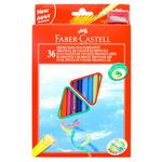 Matite colorate Eco  triangolari - mina 3mm - con temperino - Faber Castell - Astuccio 36 matite colorate