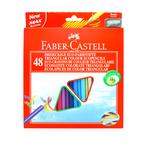 Matite colorate Eco  triangolari - mina 3mm - con temperino - Faber Castell - Astuccio 48 matite colorate