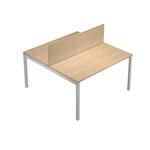 Pannello divisorio Agorà - per scrivania multiple - 140x32cm - rovere  - Artexport