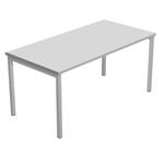 Scrivania Easu Plus - lineare - 118x80x72,5 cm - grigio - Artexport