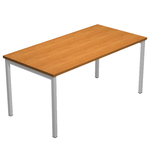 Scrivania Easy Plus - lineare - 158x80cm - noce chiaro - Artexport