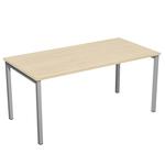 Scrivania Easy Plus - lineare - 158x80x72,5 cm - faggio - Artexport