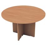 Tavolo riunione Easy - 4 posti - diametro 120 cm - altezza 72 cm - noce chiaro - Artexport