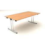 Tavolo pieghevole Easy Fold - 158x80cm - H72cm - noce chiaro - Artexport
