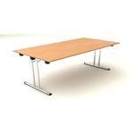 Tavolo pieghevole Easy Fold - 178x80cm - H72cm - noce chiaro - Artexport