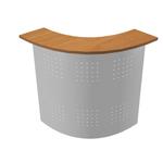 Sopralzo angolare reception Easy - 90 gradi - noce chiaro/metallo - Artexport