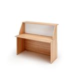 Modulo Prestige reception sopralzo/desktop - 140x76,1x117cm - ciliegio arabis/bianco - Artexport