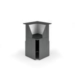 Modulo Prestige reception - 90 gradi - 76x76x117cm - nero venato/bianco - Artexport