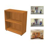 Libreria modulare bassa - a giorno - 76x32x81,5 cm - noce chiaro - Artexport