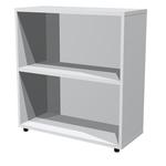 Libreria modulare bassa - a giorno - 76x32x81,5 cm - grigio - Artexport