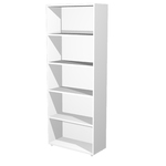 Libreria modulare alta - a giorno - 76x32cm - H196cm - bianco - Artexport