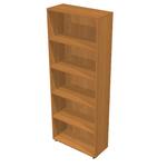 Libreria modulare alta - a giorno - 76x32x196 cm - noce chiaro - Artexport