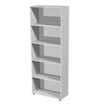 Libreria modulare alta - a giorno - 76x32cm - H196cm - grigio - Artexport