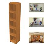 Libreria modulare alta - a giorno - 40x32cm - H196cm - noce chiaro - Artexport