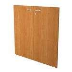Coppia ante per libreria modulare - bassa - 76 cm - melaminico - con serratura - noce chiaro - Artexport