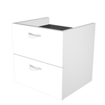 Coppia cassetti per libreria modulare - L40 cm - 36x29x35,5 cm - bianco - Artexport