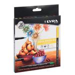 Pennarelli Aqua Brush Duo - una punta 2mm - una punta 4mm - Lyra - astuccio 12 pennarelli
