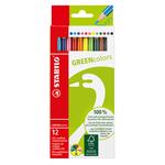 Pastelli colorati GreenColors - Ø mina 2,5mm - Stabilo - Astuccio 12 pastelli colorati