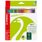 Astuccio 24 pastelli green colours stabilo