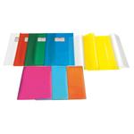 Coprimaxi in pvc goffrato trasp. 21x30cm arancione c/alette emy silk