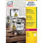 Poliestere adesivo l4775 bianco 100fg A4 210x297mm (1et/fg) laser avery