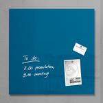 Lavagna magnetica in vetro artverum® - 480x480x15 mm - blu petrolio - Sigel