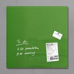 Lavagna magnetica in vetro artverum® - 480x480x15 mm - verde - Sigel