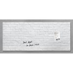 Lavagna magnetica in vetro artverum® - 550x1300x15 mm - texture pietra bianca - Sigel