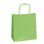 Shoppers carta Kraft Twisted - verde mela - 18 x 8 x 24cm - Cartabianca - conf. 25 shoppers